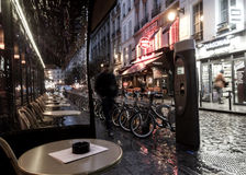 Paris cafe evening Royalty Free Stock Photo