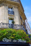 Paris Cafe Sign Stock Photos