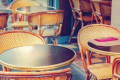 Paris cafe. Typical outdoor cafe in Paris Royalty Free Stock Photos