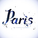 Paris calligraphy vector design Royalty Free Stock Photography