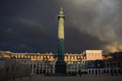 Paris. The calm before the storm stock photography