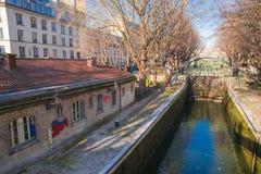 Paris, canal St Martin photo libre de droits