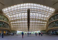 Paris - The canopy at the Forum des halles royalty free stock photography
