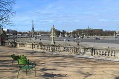 Paris capital and the most populous city of France. And eiffel tower royalty free stock photography