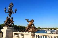 Paris capital and the most populous city of France. And seine river stock image