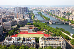 Paris, captured from the Eiffel Tower Royalty Free Stock Images