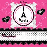 Paris card. vector illustration Royalty Free Stock Image