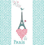 Paris card Stock Photography