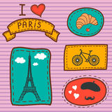 Paris card Royalty Free Stock Photography