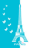 Paris cards as symbol love Royalty Free Stock Images
