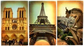 Paris - cartões retros ilustração royalty free