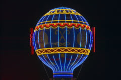 Paris Casino Balloon neon lights, Las Vegas, NV Stock Image