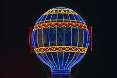 Paris Casino Balloon neon lights, Las Vegas, NV Stock Image