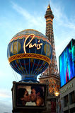 Paris Casino in Las Vegas, Nevada. Paris Casino including Balloons and Eiffel Tower in Las Vegas, Nevada Royalty Free Stock Image