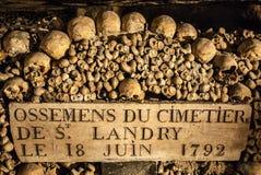 Paris Catacombes III Stock Photo