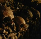 Paris Catacombs. Photo of skulls in Paris Catacombs France Stock Photography