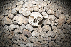 Paris Catacombs Skulls and bones Royalty Free Stock Photo