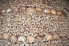 Paris Catacombs Skulls and bones Stock Photography
