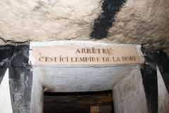 Paris Catacombs Skulls and bones Royalty Free Stock Photography
