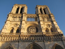 Paris cathedral facade Royalty Free Stock Image