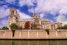 Paris -  Cathedral of Notre Dame, France. Royalty Free Stock Photography