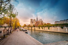 Paris -  Cathedral of Notre Dame, France. Royalty Free Stock Image
