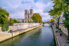 Paris -  Cathedral of Notre Dame, France. Royalty Free Stock Photo