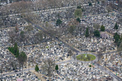 Paris Cemetery Aerial View Stock Photography
