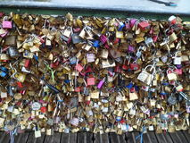Paris central - ponte 'de Pont des Arts' Imagens de Stock