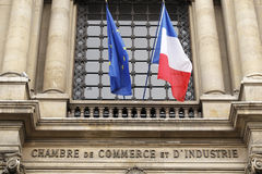 The Paris Chamber of Commerce. PARIS, FRANCE - MAY 9: The Paris Chamber of Commerce (Chambre de commerce et d'industrie de Paris or CCIP) is a Chamber of Royalty Free Stock Image
