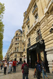 Paris, Champ Elysee street. Apr 16 2015,Shoppers and tourists in Paris on  enjoy the sights on the well known Champ Elysee. Champ Elysee is arguably the most Stock Image
