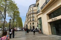 Paris, Champ Elysee street Stock Image
