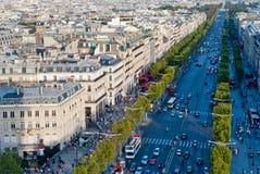 Paris, champions Elysees Image libre de droits