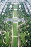 Paris Champs de Mars vom Eiffelturm Lizenzfreies Stockfoto