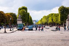 Paris Champs Elysee street Stock Image