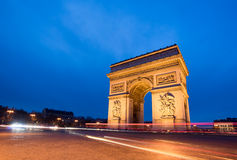 Paris, Champs-Elysees, Arc de triomphe Stock Photography