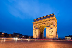 Paris, Champs-Elysees, Arc de triomphe Stock Images