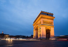 Paris, Champs-Elysees, Arc de triomphe Royalty Free Stock Photography