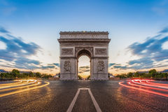 Paris, Champs-Elysees at night Stock Photo