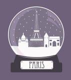 Paris christmas glass ball Royalty Free Stock Image