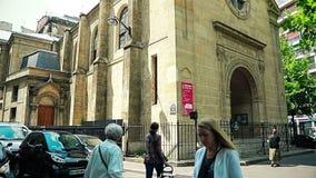 Paris Church Eglise Honore of Eylau stock video footage