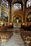 Interior Of Saint Eustache Church, Paris, France Stock Images