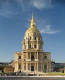 Paris, church Saint-Louis des Invalides. Paris, frontage from church Saint-Louis des Invalides, day view from avenue de Tourville Royalty Free Stock Images