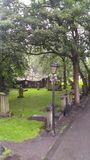 The Paris Church of St Cuthbert, Edinburgh. Cemetery of The Paris Church of St Cuthbert Royalty Free Stock Photos