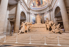 PARIS - CIRCA JUNE, 2014: Interior of Pantheon. It was originall Royalty Free Stock Images