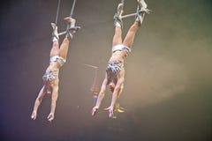 Paris Circus Trapeze Artists Stock Photos