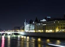 Paris: Cite island view with La Conciergerie Royalty Free Stock Images