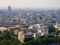 Paris city aerial panoramic bird eye view Royalty Free Stock Image