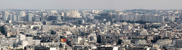 Paris city aerial panoramic bird eye view Royalty Free Stock Photography