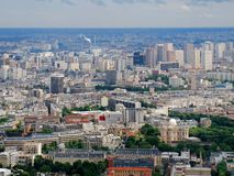 Paris city aerial panoramic bird eye view Royalty Free Stock Images